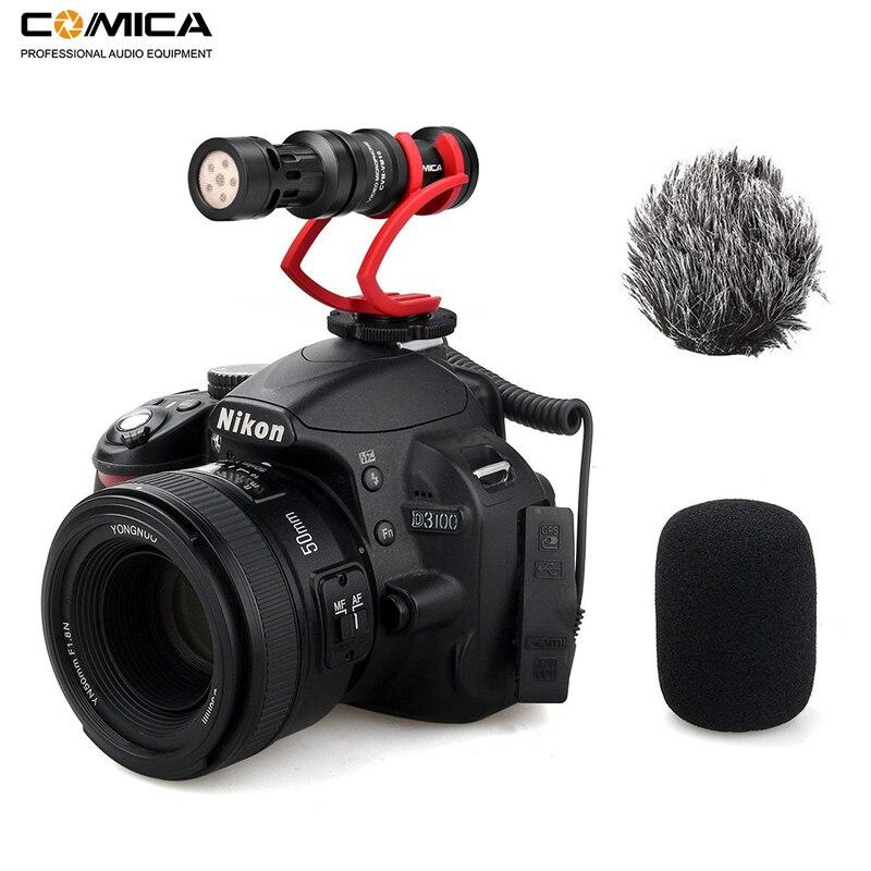 Tüketici Elektroniği'ten Mikrofonlar'de Comica CVM VM10II Video Kayıt Mikrofon Kamera/Telefon Mikrofon Canon Nikon Sony DSLR Kamera için iPhone Samsung S9 s10 title=