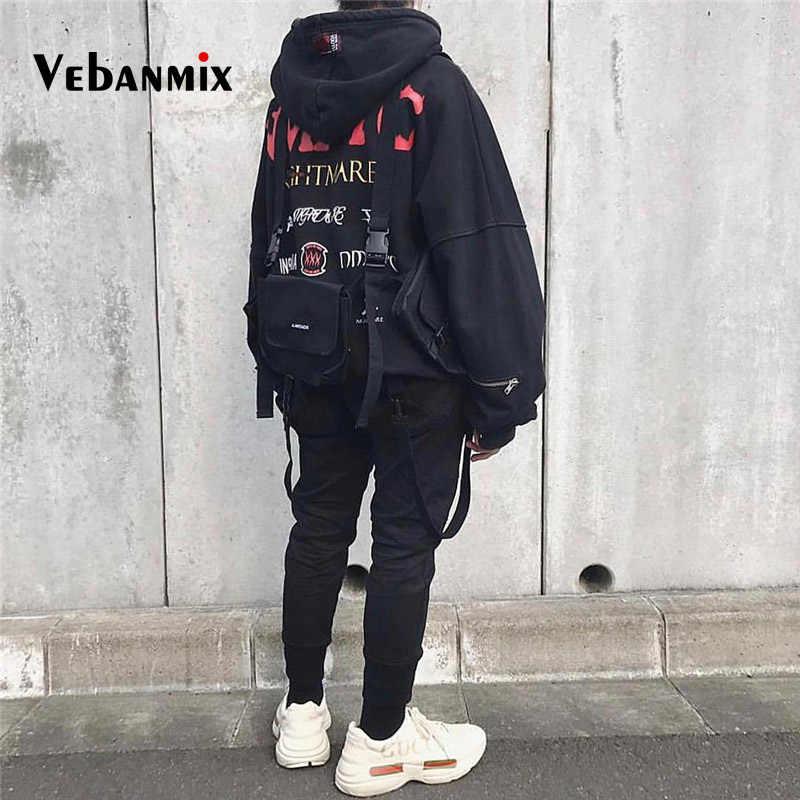 Крутая функция, нагрудная сумка, поясная сумка, хип-хоп, уличная сумка для мальчиков, Мужская тактическая многофункциональная сумка, жилет с прорезными карманами, сумка на плечо