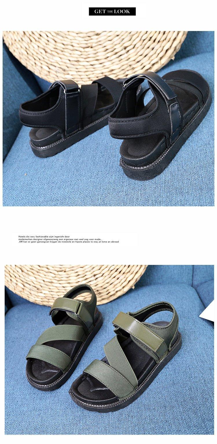 Summer Sandalias Mujer 2019 Shoes Woman Classics Gladiator Hook Loop Sandals Women Shoes Casual Flat Platform Block Heel Shoes 23