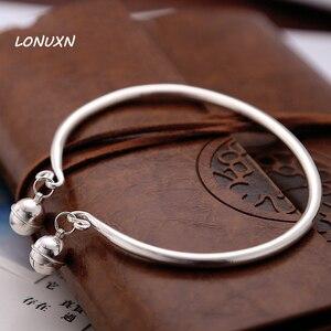 Высококачественные звонки 999, браслет на щиколотку из стерлингового серебра 925 пробы с печатью, из натурального серебра, Подарочный браслет ...