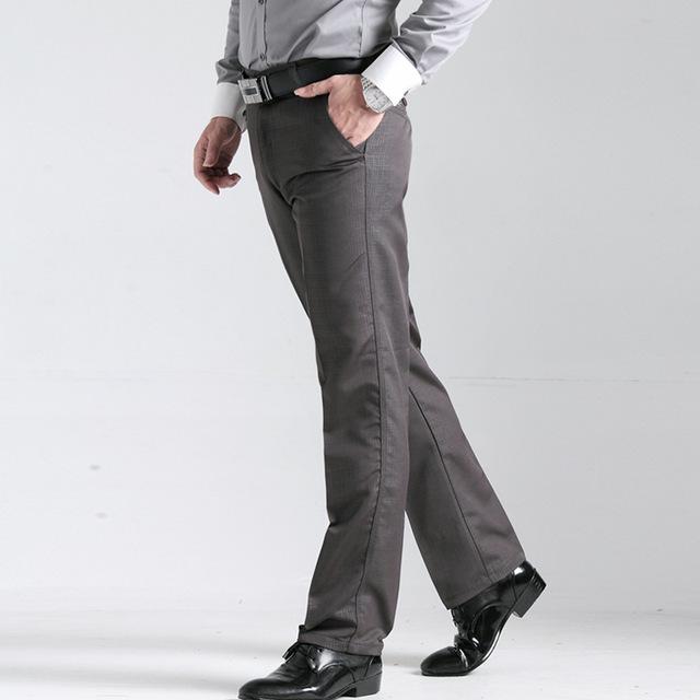 Dom do pai 2017 Outono moda Masculina Casual Calças dos homens de Negócios do escritório roupas Bottoms calças dos homens 100% Algodão