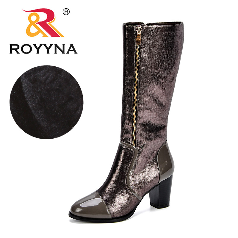 ROYYNA Thigh High Boots Female Winter Boots Women Over the Knee Boots High Heels Zipper Sexy Fashion Shoes 2018 Comfy Shoes Lady