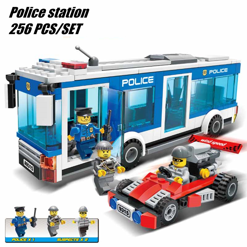 New City Police station boys fit legoings city swat police figures Building Blocks bricks Children gift kids boys diy toys
