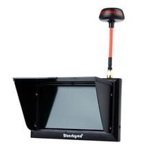 """Blueskysea FX-F408 4.3 """"LCD 5.8G 32Ch monitor FPV 2-In-1 bezprzewodowy odbiornik czarny/W dla multicoptera FPV RC część do quadcoptera"""