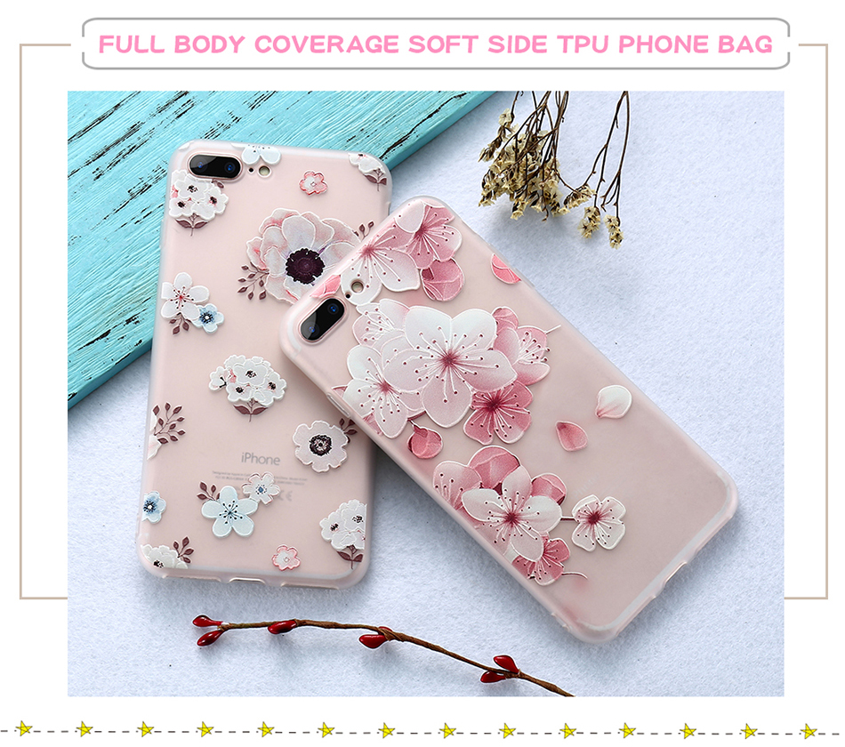 flower patterned case for iPhone 6 6s 7 Plus (4)