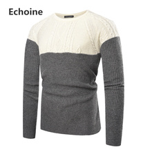 Men Winter Sweater Knitting Pullover Mens Patchwork O-neck Male Clothing Casual Loose Knitted Pullovers