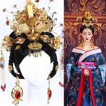 Tang Dynasty Princess Empress Hair wig and Hair Acc