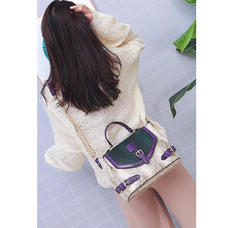 Woman Shoulder Bags Serpentine Pattern Ladies Hand Bags Chain Bucket Bag Luxury Leather Handbags Design