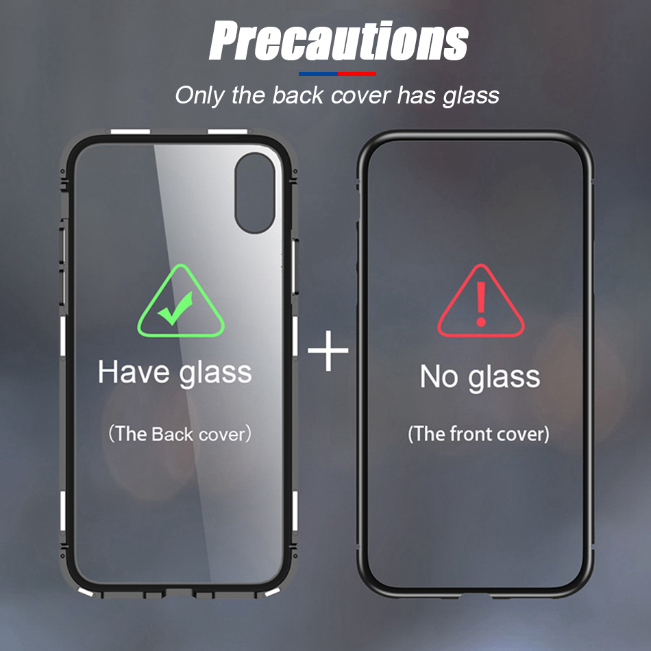 TOMKAS Magnetic Adsorption Case For Samsung Galaxy S9 S8 Plus Note 8 Cover Of Phone Case For iPhone X 8 7 6 6s Plus Metal Glass  (19)