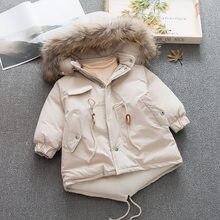 1c4b9d0330735a 4 T 110 CM zimowa kurtka dziewczęca dla dzieci prawdziwe futro szopa z  kapturem płaszcze grube