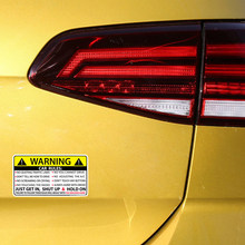 10x6cm Car Safety Warning Rules Decal PVC Auto Sticker For Car Sun Visor Dashboard Seat Trunk Windshield Armrest Car Body Window(China)