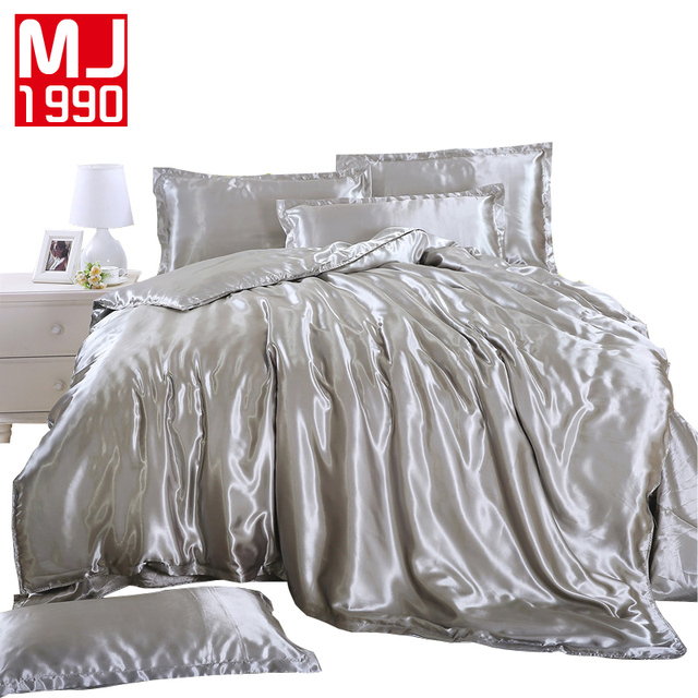 2018 Hot Summer Sale 100% Silk Bedding Set Home Textile Set Bed Linings  Duvet Cover