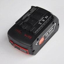 18 в литий-ионная аккумуляторная батарея 5000 мАч для BOSCH аккумуляторная электрическая дрель шуруповерт BAT609, BAT609G, BAT618