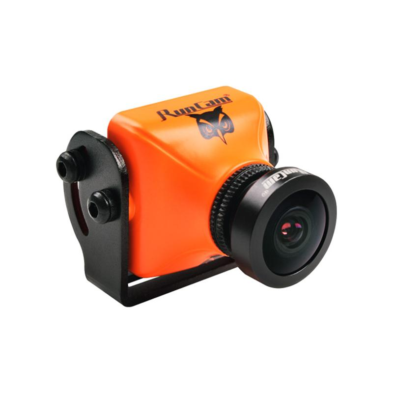 RunCam Owl Plus 2 FPV Camera NTSC PAL 700TVL MIC OSD 2DNR FOV150 Orange for Racing