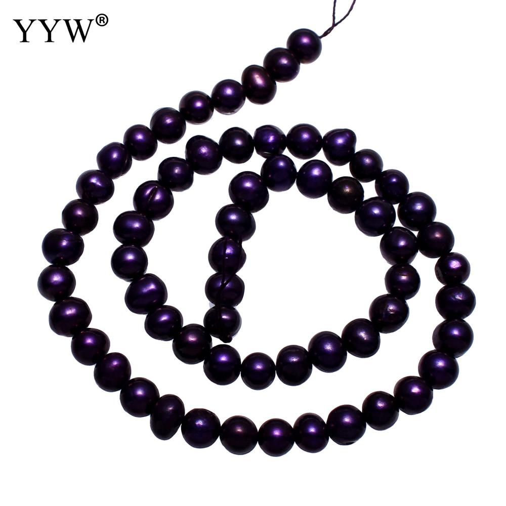 Beads & Jewelry Making Honest Cultured Potato Freshwater Pearl Beads Dark Purple 5-6mm 15inch/strand Luxury Color For Diy Birthday Jewelry Gift Accessory