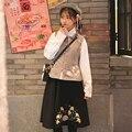 2016 de invierno juego de la espiga de las mujeres de origen chino mandarín collar hecho a mano rana bordado trajes de cosplay