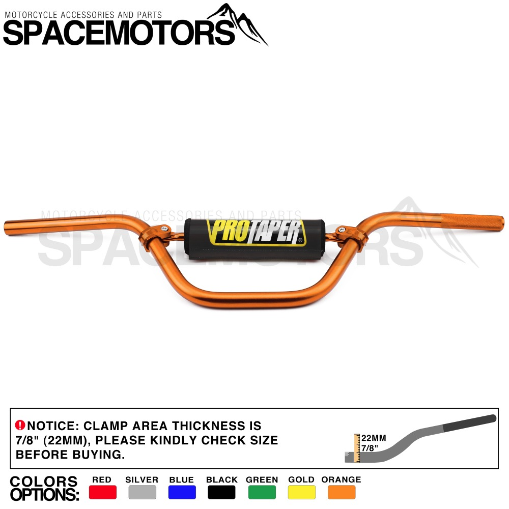 MX ProTaper Bar 7075 Aluminum Alloy handlebar Length 735mm Diameter 22mm 7 8 Tall Motorcycle EX