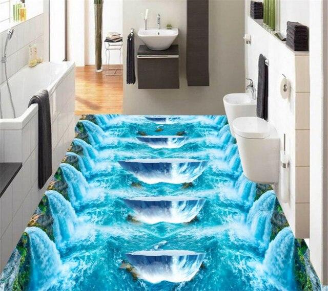 beibehang personnalis chutes d 39 eau glacier 3d carreaux de sol cascades maison salon chambre. Black Bedroom Furniture Sets. Home Design Ideas