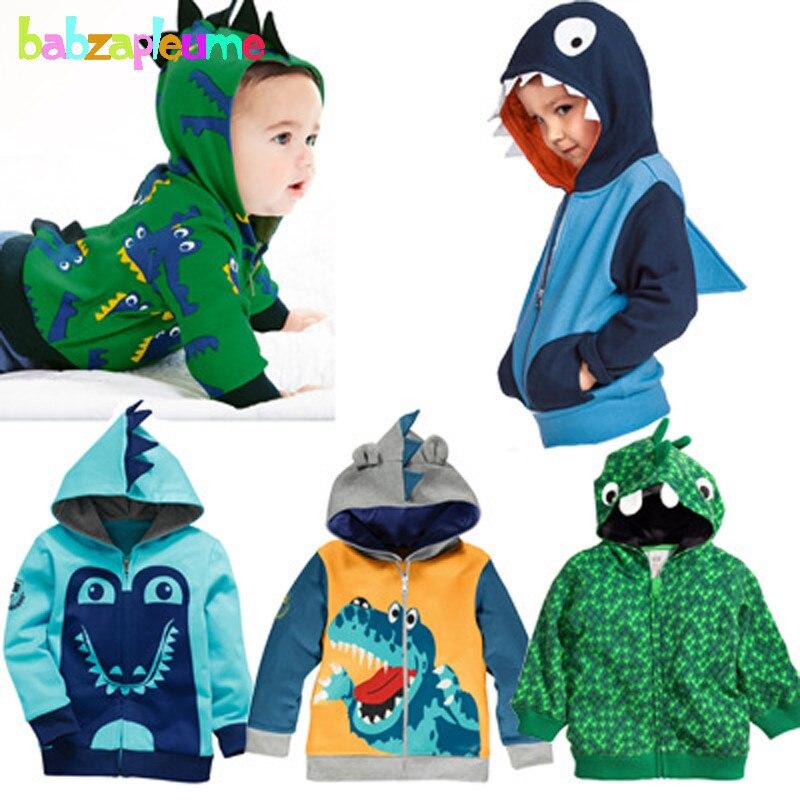 Boys Outerwear Coat Jackets Hooded Kids Clothes Autumn Fashion Children Cartoon Print