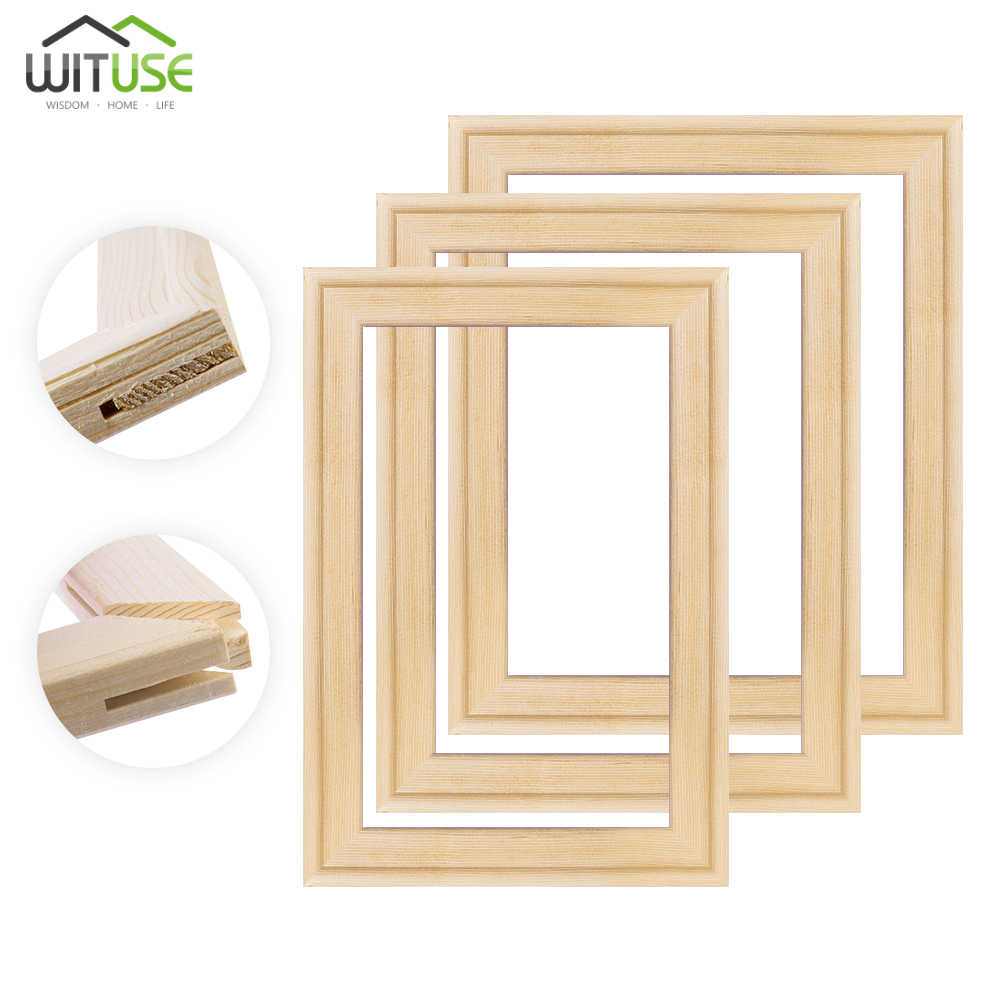 1 Set Canvas Wood frame for canvas oil painting Diamond painting nature wood DIY Wooden stretcher big size picture inner frame
