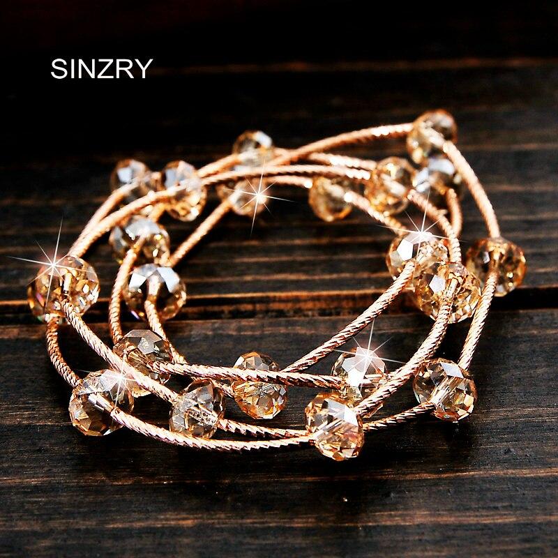 SINZRY nouveau design classique pur fait à la main bricolage multi couche véritable importé cristal personnalité bracelets porte-bonheur bijoux cadeau