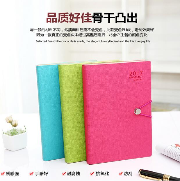 Japan and South Korea wind 2017 schedule a4 creative diary notebook notebook creative pure and fresh japanese style notepad 32k blank notebook hand diary south korea