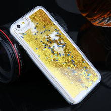 Matte Phone Case for iphone 6s 7 8 case glitter liquid Quicksand Star Yellow Hard PC For se bling Cover