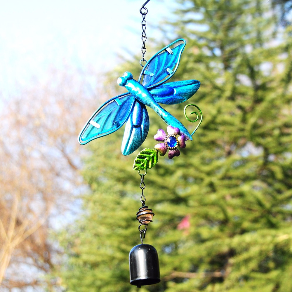 40.2*13.6 Inch Blue Dragonfly Wind Chime Car Hanging Chimes ...