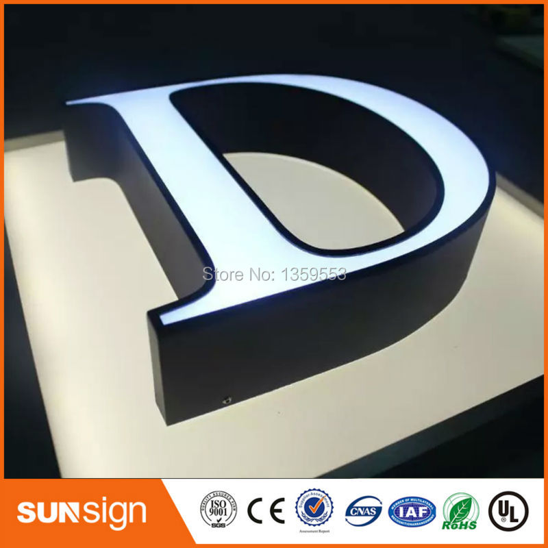 Outdoor Advertising Blister Acrylic Led Wall Mounted Sign