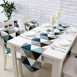 Simples moderno geométrico mesa de jantar corredor placemats upscale tecido mesa de café bandeira cama corredor