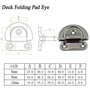 Image 3 - Ze stali nierdzewnej 316 D pierścień Deck składany Pad oczu mocowania mocowania knaga dla jachtów morskich łodzi 6mm/ 8mm/10mm