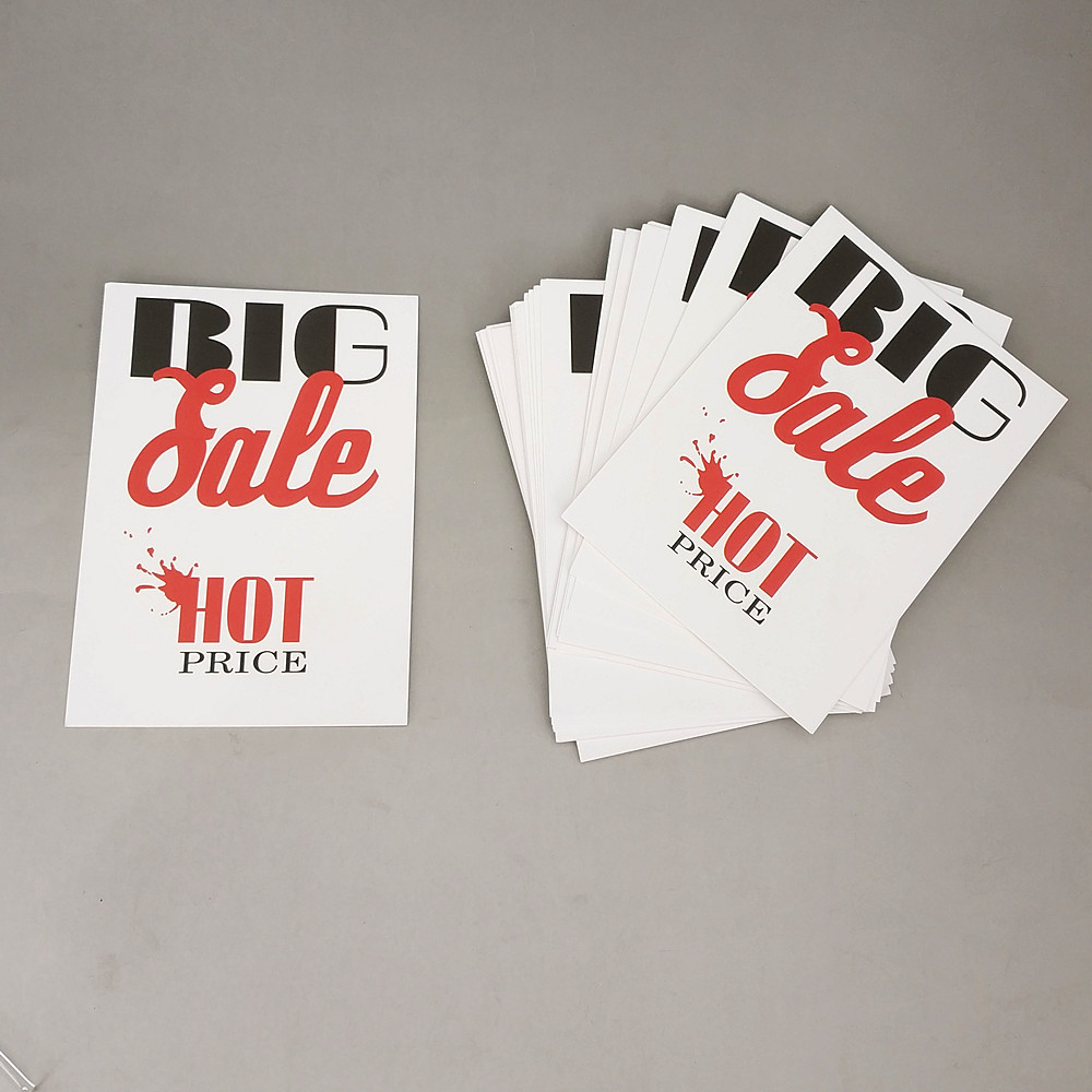 POP Poster Hard Paper 300gsm Label Tag Onsale Sign Signage Card For Advertising Promotion 14x10cm In Retail Store 2000pcs