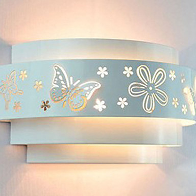 цена на Wall Sconces, Modern LED Wall Lamp Light For Home Bedroom Butterfly Flower Pattern Free Shipping