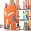 2016 Newest Fashion Lovely 3D Cute Cartoon Animal Fox  Soft Silicone Rubber Back Cover Case for iPhone 6 6S 5 5S SE 5C C 4 4S