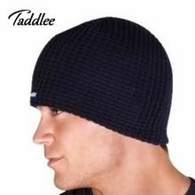 Taddlee Brand Fashion Mens winter cap Set of head cap Man hat keep warm protecting hats