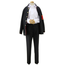 Brdwn Hitman Reborn Unisex Hibari Kyoya Cosplay Costume School Uniforms Suit (Top+shirt+pants+armband) стоимость