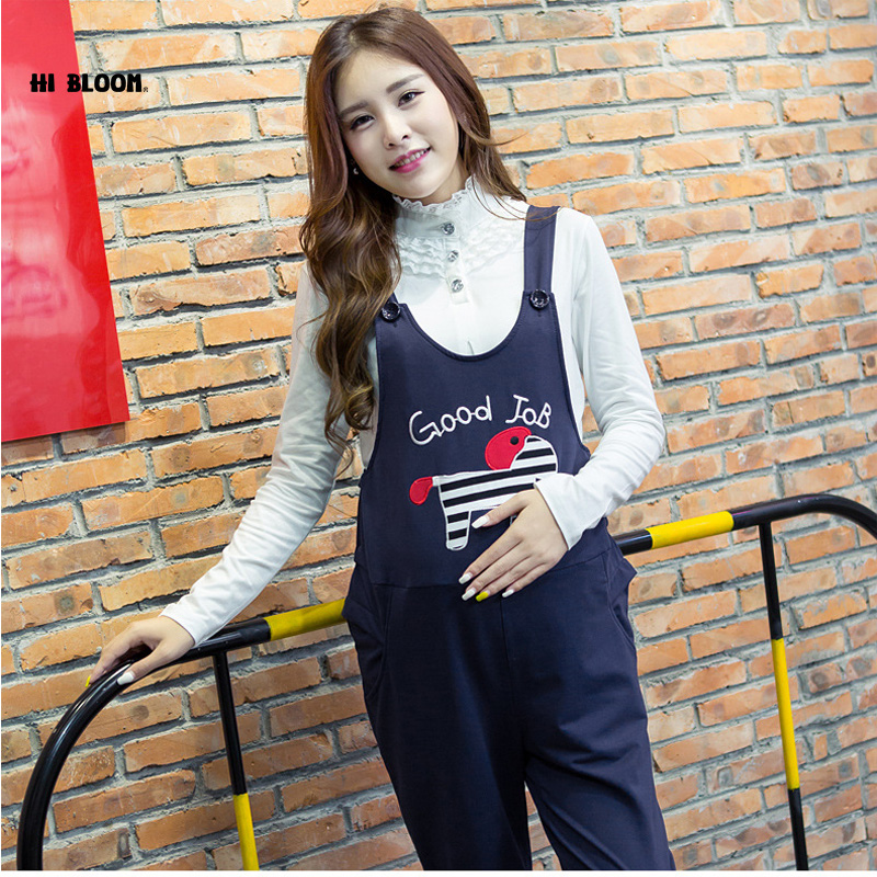 Elastic Waist Cotton Maternity Clothing Maternity Overalls Pants&Capri for Pregnancy Women Pregnancy Clothes Suspender Trousers woman fashion slim solid knee distrressed maternity wear jeans premama pregnancy prop belly adjustable pants for women c73