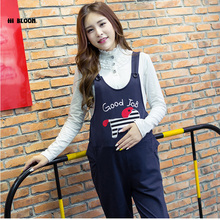 Elastic Waist Cotton Maternity Clothing Maternity Overalls Pants&Capri for Pregnancy Women Pregnancy Clothes Suspender Trousers