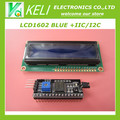 Shiipping livre 1 lote = 2 pcs 1 pcs 1602 16x2 HD44780 Caracteres LCD azul + 1 pcs IIC/I2C 1602 Módulo Adaptador de Interface Serial