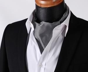 Image 5 - Men Ascot Polka Dot Floral Wedding Party  Formal Cravat Ascots silk Self British style Gentleman Neck Tie Luxury #B3