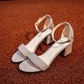 Ltarta Chanclas de Verano de Las Mujeres Sandalias de Punta Abierta Sandalias de Tacón Grueso Zapatos de Las Mujeres Del Estilo Coreano de Las Mujeres Zapatos de Gladiador. HS-977