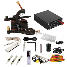 Freeshipping Complete Tattoo Kit Set tattoo machine guns power supply needles Etc Free Shipping Power Supply