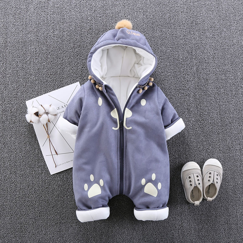 winter Infant Baby Jumpsuits outerwear Baby Rompers Christmas Newborn Clothing Baby Girl Clothes Bebe Baby Boy Clothes 3-12M цена