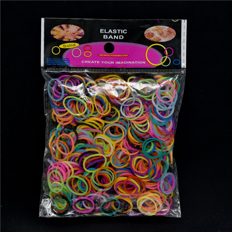 Diy Knitting Machine Bracelet Woven Rainbow Colored Rubber Band Solid Color Boosters Children's Educational Arts & Crafts Toys