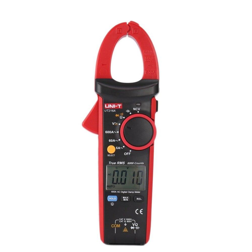 Digital Clamp Meters UNIT DC/AC Volt Amp Ohm Diode Multimeter Ammeter Multitester Current Voltage Resistance NCV Tester Probe цена