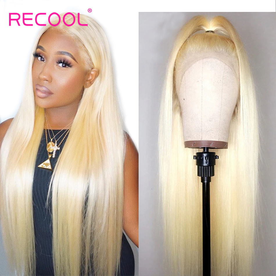 613 Blonde Lace Front Wig HD Transparent Lace Front Human Hair Wigs Pre Plucked Brazilian Straight