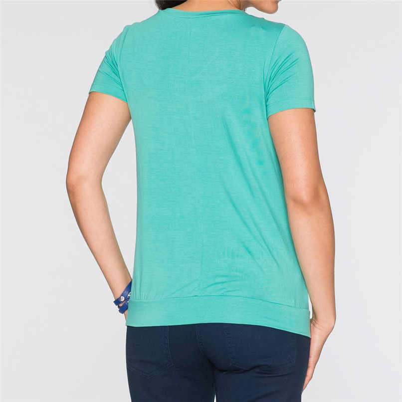 f2797748eb7f ... Maternity Clothes Breastfeeding Clothes Summer Maternity Nursing Solid  Short Sleeves Double Layer Top Blouse T- ...