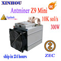 Antminer Z9 mini10k sol/s ASIC miner Equihash no psu máquina de minería ZCASH se puede sobrecargar a los mineros to14K son mejor que S9 L3