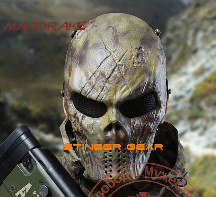 Firm In Structure sku12050481 Original Warchief M06 Mask Paintball Mask Full Face Cool Airsoft Mask Kryptek Nomad/mandrake