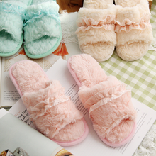 Hallowee Winter Warm Soft indoor floor Slippers Women Christmas Monster Dinosaur Claw Plush Open-toed lace comfortable indoor недорого